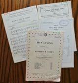 Christmas sheet music for choirs Carol of the Drum Myn Lyking Rejoice & be Merry